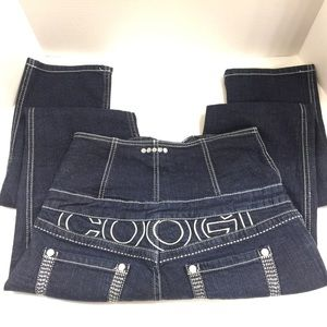 COOGI Jeans - Coogi Women's Super High Waist Jeans Embroidered